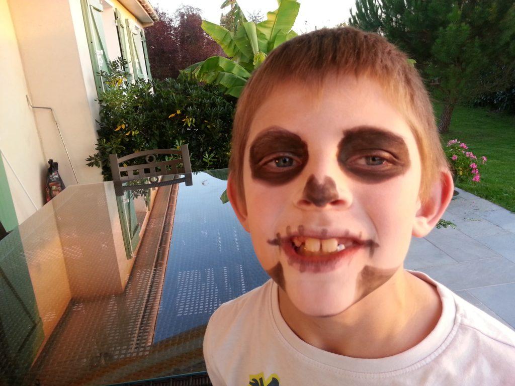 Maquillage squelette Haloween Garçon