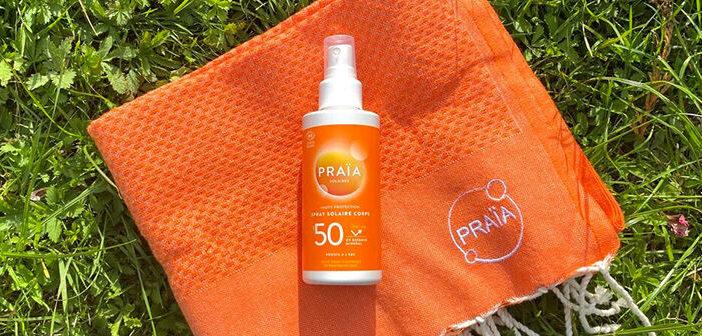 Crème solaire bio sans trace blanche de Praïa, le must-have de l'été !