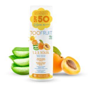 Lait solaire SPF50 - Toofruit  - Soins solaires