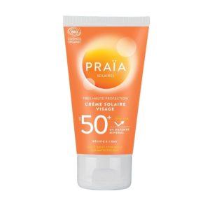 crème Solaire Visage bio SPF50+ - Praïa - Soins solaires