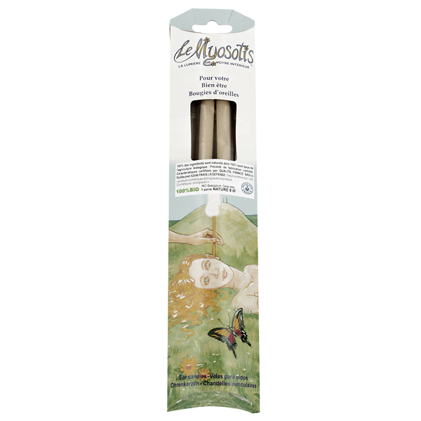 2 Bougies auriculaires Adulte bio - Nature