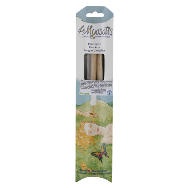 2 Bougies adulte auriculaires bio - Thym Eucalyptus