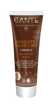 Fluide visage 2 en 1 bio - Homme II- Caffeine & Açai