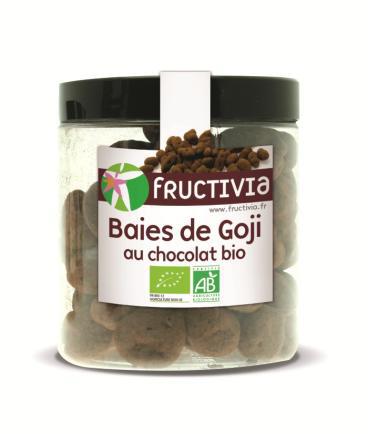 Baies de goji séchées bio au chocolat